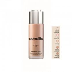 SENSILIS Base Maquillaje Velvet Skin Hyaluronic Sérum&Foundation 2en1 (03 MIEL)