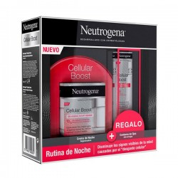 NEUTROGENA Pack Cellular Boost Crema de Noche 50ml+ REGALO Contorno de Ojos 15ml