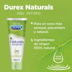 DUREX Naturals Gel Lubricante Íntimo Pure 100% Natural 100ml