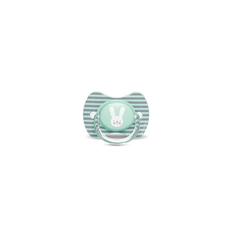 SUAVINEX Chupete Premium Tetina Silicona Fisiologica 6-18 meses Conejito Verde