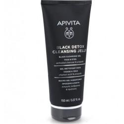 Apivita Gel Limpiador Negro Detox Rostro y Ojos 150ml