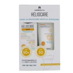 HELIOCARE Pack 360º Pediatrics Mineral SPF50+ 50ml + Locion SPF50 200ml