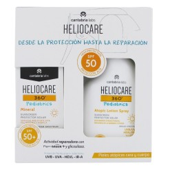 HELIOCARE Pack 360º Pediatrics Mineral 50ml + Atopic Locion Spray SPF50 250ml