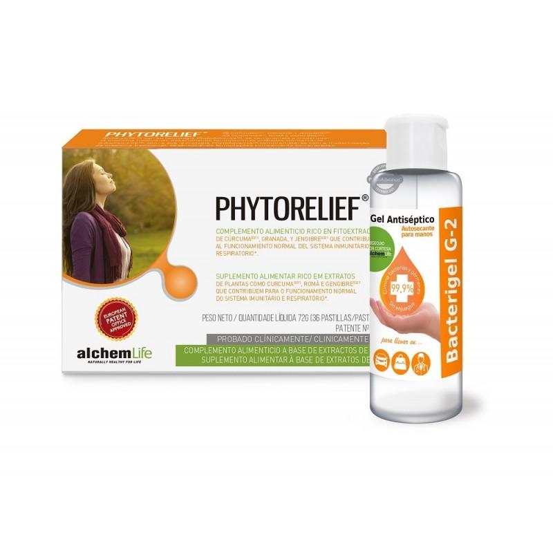ALCHEMLIFE Phytorelief 36 pastillas + Gel Antiséptico de REGALO 60ml