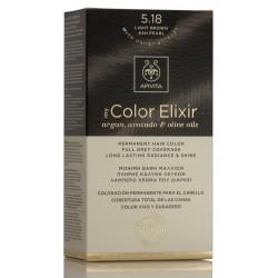 APIVITA My Color Elixir Tinte Castaño Claro Ceniza Perlado Nº 5.18