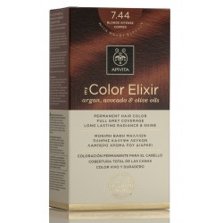 APIVITA Tinte 7.44 Rubio Cobrizo Intenso My Color Elixir