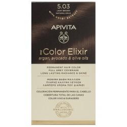 APIVITA My Color Elixir Tinte Castaño Claro Natural Dorado Nº 5.03