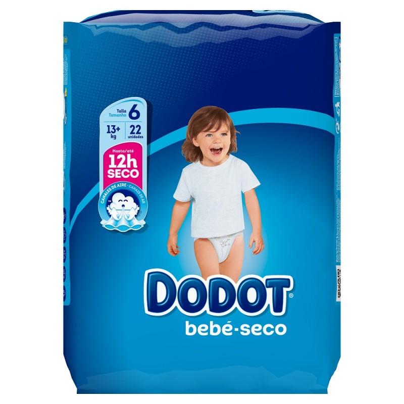 DODOT Pañal Bebé-Seco Talla 6 (+13 Kg) 22 unidades