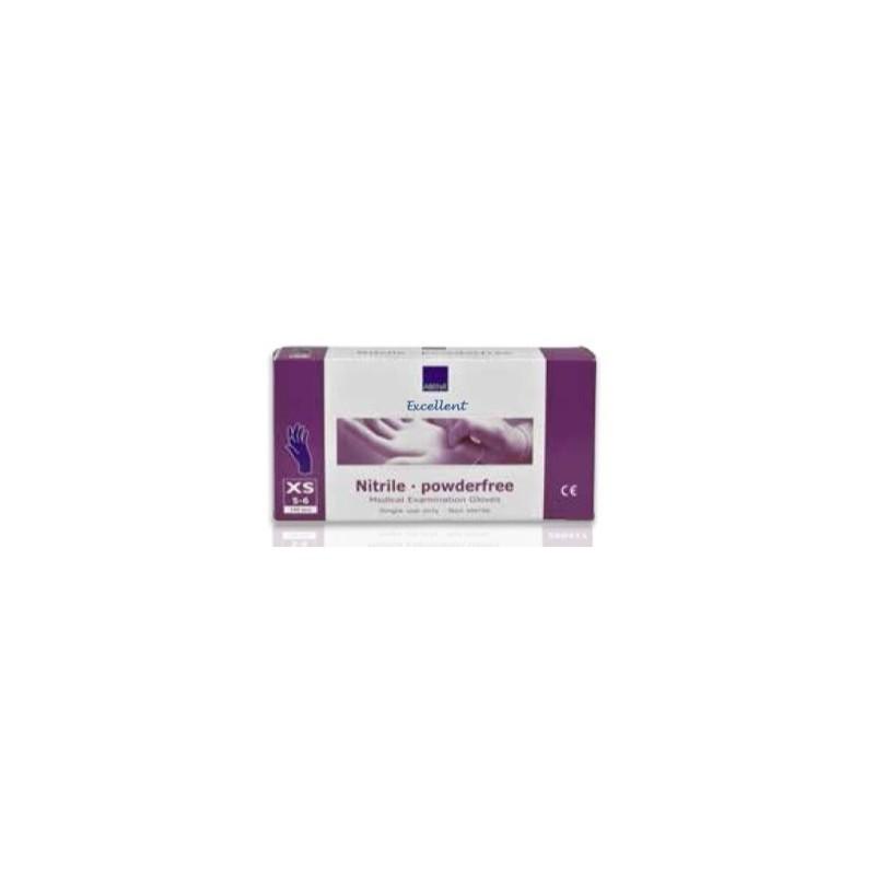 Guante desechable nitrilo sin polvo S Rosa Caja 100 uds