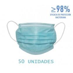 50x MASCARILLAS Quirúrgicas Tipo II Caja de 50 uds BJEDQ