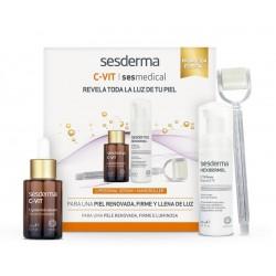 SESDERMA Pack C-Vit Sérum + Hexidermol Espuma CTB + Nano Roller