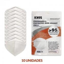 10x Mascarillas KN95 Protectora FFP2 MENGGESUO 10 unidades