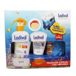 LADIVAL Pack Spray Niños y Piel Atópica Spf50 200ml + Crema 50ml + REGALO