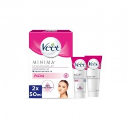 VEET Minima Kit Crema Depilatoria Facial 2x50ml