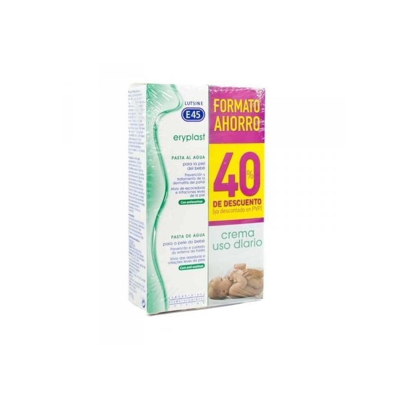 LUTSINE E45 Eryplast Pasta al Agua 2x75gr