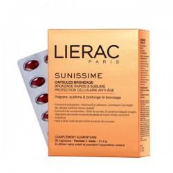 LIERAC Sunissime Cápsulas Solares Bronceado Rápido & Protección Antiedad 30 cápsulas