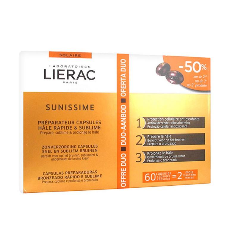 LIERAC Duplo Sunissime Cápsulas Solares Bronceado Rápido & Protección Antiedad 2x30 cápsulas