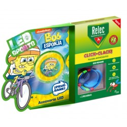 RELEC Pulsera Antimosquitos Infantil Click-Clack BOB ESPONJA Ciclismo 2 recargas