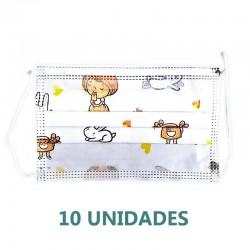 10X MASCARILLAS NIÑOS Quirúrgicas Tipo I 10 mascarillas PALEX INNOVISION