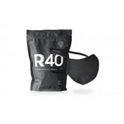 Mascarilla Higiénica Reutilizable y Lavable 100% Algodón Ecológico Color Negro Adultos R40