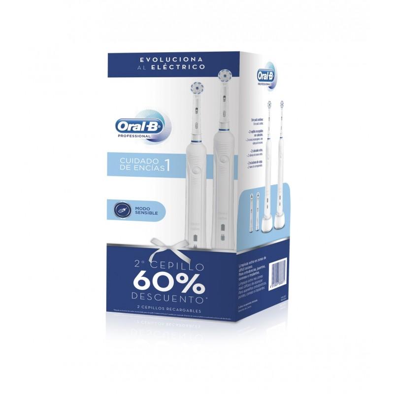 ORAL-B Cepillo Eléctrico Pro 1 Cuidado Encías PACK DUPLO (2 cepillos)