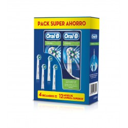 ORAL-B PACK SUPER AHORRO 4 Recambios CrossAction