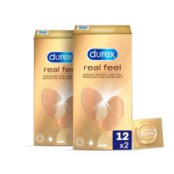 DUREX Real Feel Preservativo 2x12 unidades