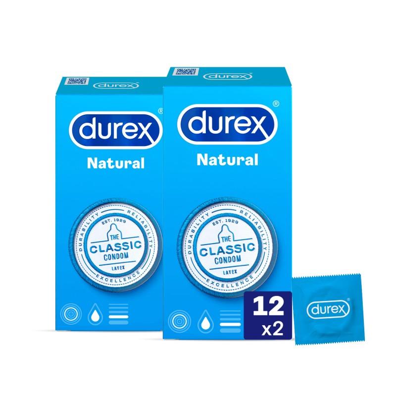 DUREX Preservativo Natural Duplo 2x12