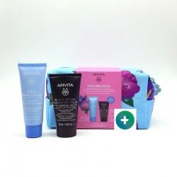 APIVITA Neceser Aqua Beelicious Crema Gel Hidratante 40ml + Gel Limpiador Negro 50ml de REGALO
