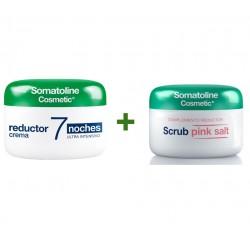 SOMATOLINE Reductor 7 Noches Intensivo Crema 450ml + Reductor Exfoliante Pink Salt 350gr de REGALO
