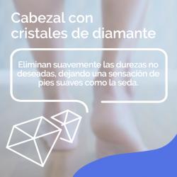 SCHOLL Recambio Cabezales Lima Durezas Persistentes Velvet Smooth Diamond Crystals 2 uds