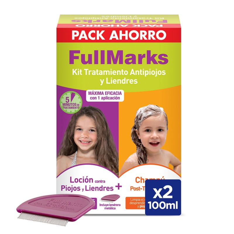 FULLMARKS Antipiojos y Liendres Loción 100ml + Champú 150ml PACK AHORRO