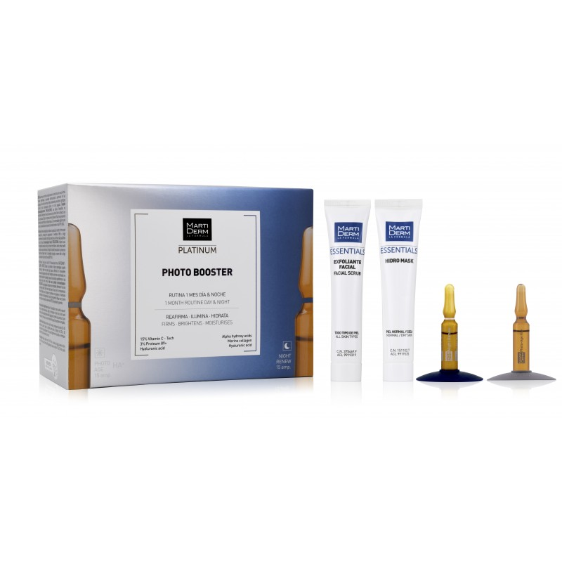 MARTIDERM Pack Photo Booster 15 ampollas Photo Age + 15 ampollas Night Renew