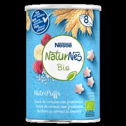 NESTLÉ Naturnes BIO NutriPuffs Snack Cereales con Frambuesa 35gr