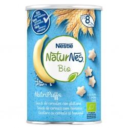 NESTLÉ Naturnes BIO NutriPuffs Snack Cereales con Plátano 35gr