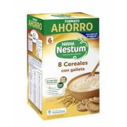NESTLÉ Nestum 8 Cereales con Galleta Papilla 1,1Kg FORMATO AHORRO