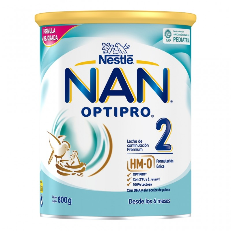 NAN OPTIPRO 2 Leche en Polvo para Lactantes 800g