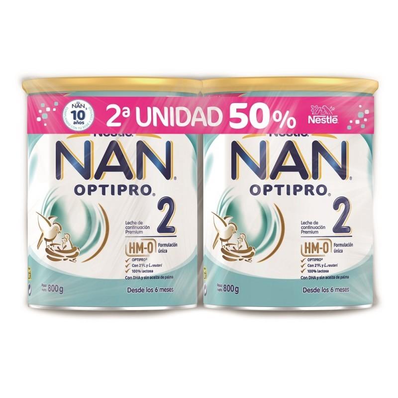 NAN 2 OPTIPRO Leche de Continuación DUPLO 2x800g