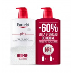 EUCERIN pH5 Duplo Gel de Baño Piel Seca y Sensible 2x1000ml