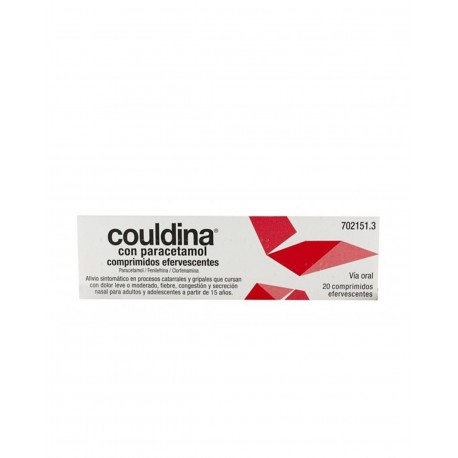 COULDINA Con Paracetamol 20 Comprimidos Efervescentes