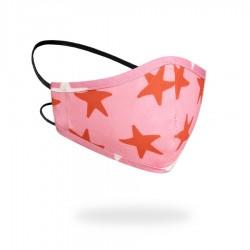 Mascarilla Niños R40 RED STARS Reutilizable y Lavable 100% Algodón Ecológico 3-6 años