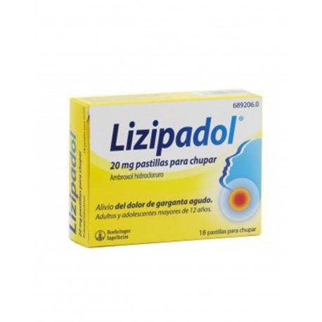 LIZIPADOL 20MG 18 Pastillas para Chupar