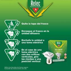 RELEC Día y Noche Recambio para Difusor Antimosquitos Eléctrico 35ml