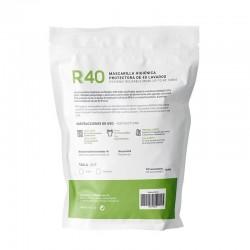 Mascarilla Higiénica Reutilizable y Lavable 100% Algodón Ecológico ADULTOS R40