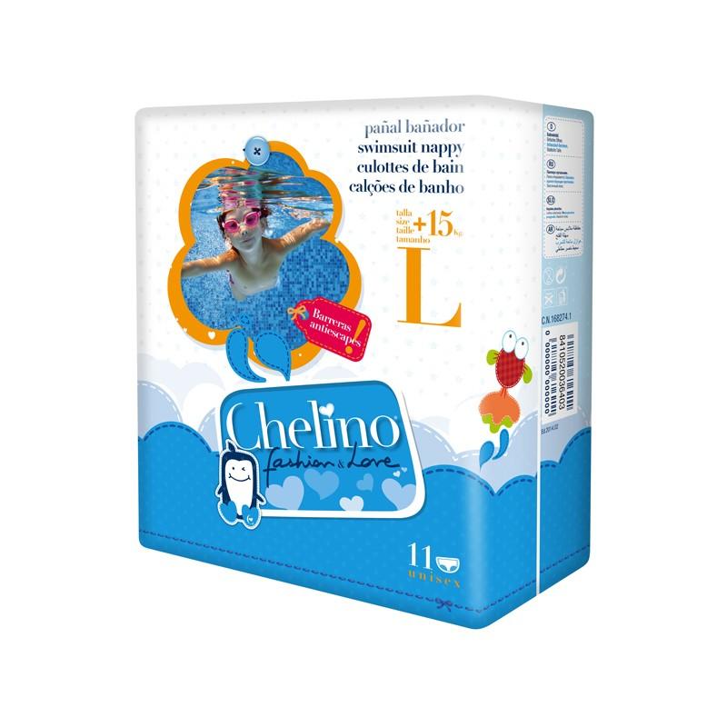 CHELINO Pañal Bañador Talla L (+15kg) 11 Unidades