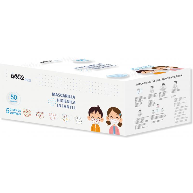 INCA Mascarilla Higiénica Infantil Estampada Desechables 50 uds