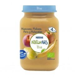 NESTLÉ Naturnes BIO Puré Manzana, Plátano, Pera y Melocotón 190gr