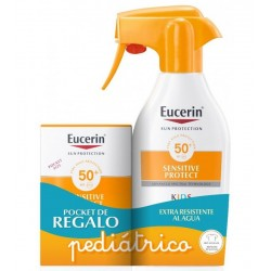 EUCERIN PACK Sensitive Protect Spray Solar Infantil SPF 50+ 300ml + 50ml GRATIS