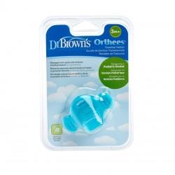 DR. BROWN'S Mordedor de Transición Azul Orthees +3meses