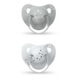 SUAVINEX Chupete Tetina Anatómica Silicona +18 Meses x2 (Blanco)